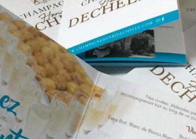Champagne Henri Dechelle et fille - plaquettes de mariage