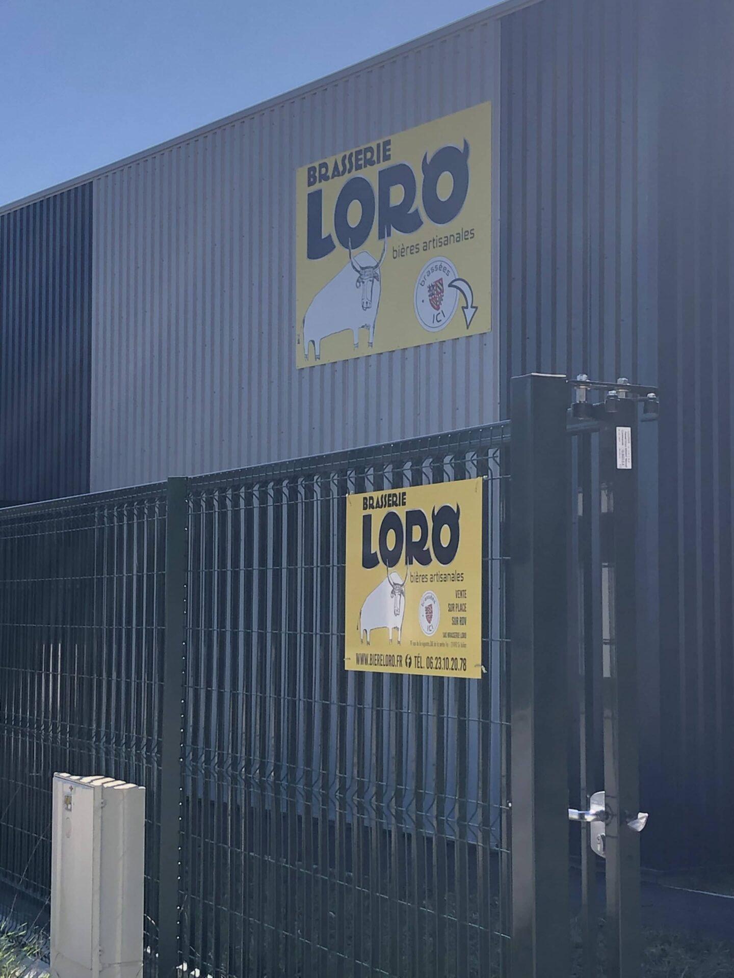 Brasserie Loro - Signalétique