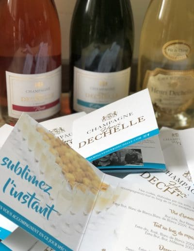 Champagne Henri Dechelle et fille - plaquettes