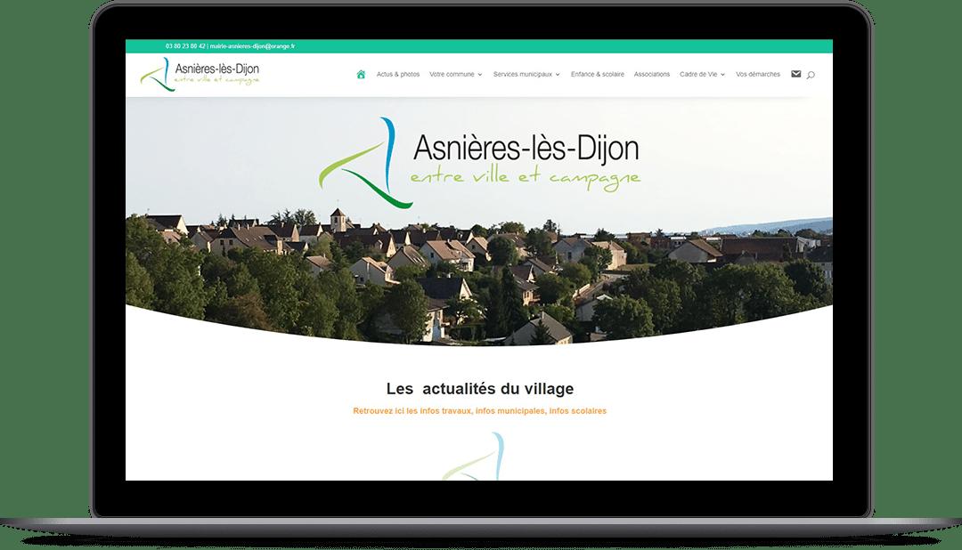 Millesime Communication - Site internet d'Asnières-lès-Dijon