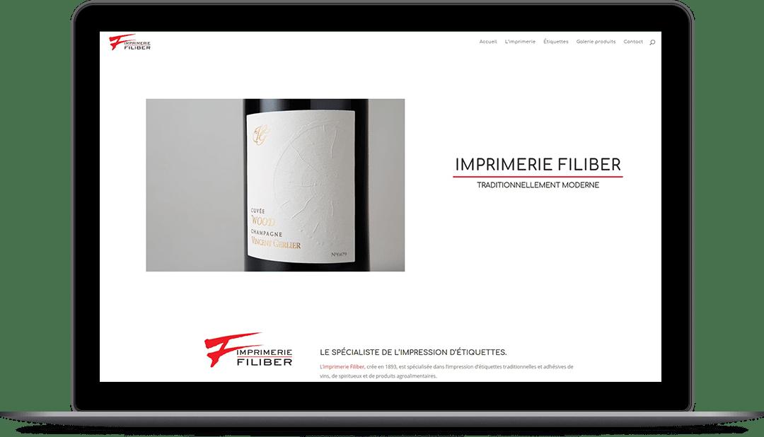 Millesime Communication - Site internet Imprimerie Filiber